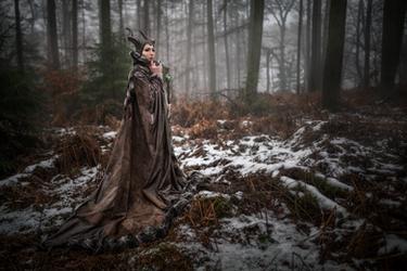 Maleficent Cosplay - Winter Photoshoot by emilyrosa
