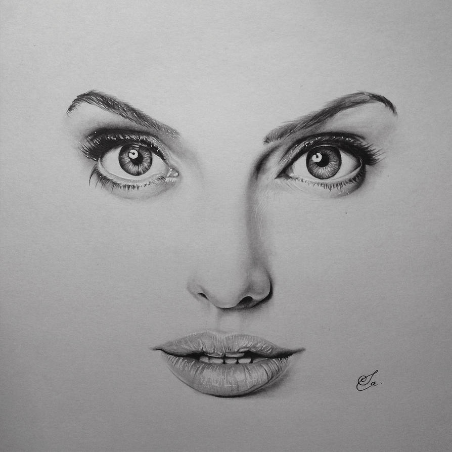 Angelina Jolie Sketch By Wsalome