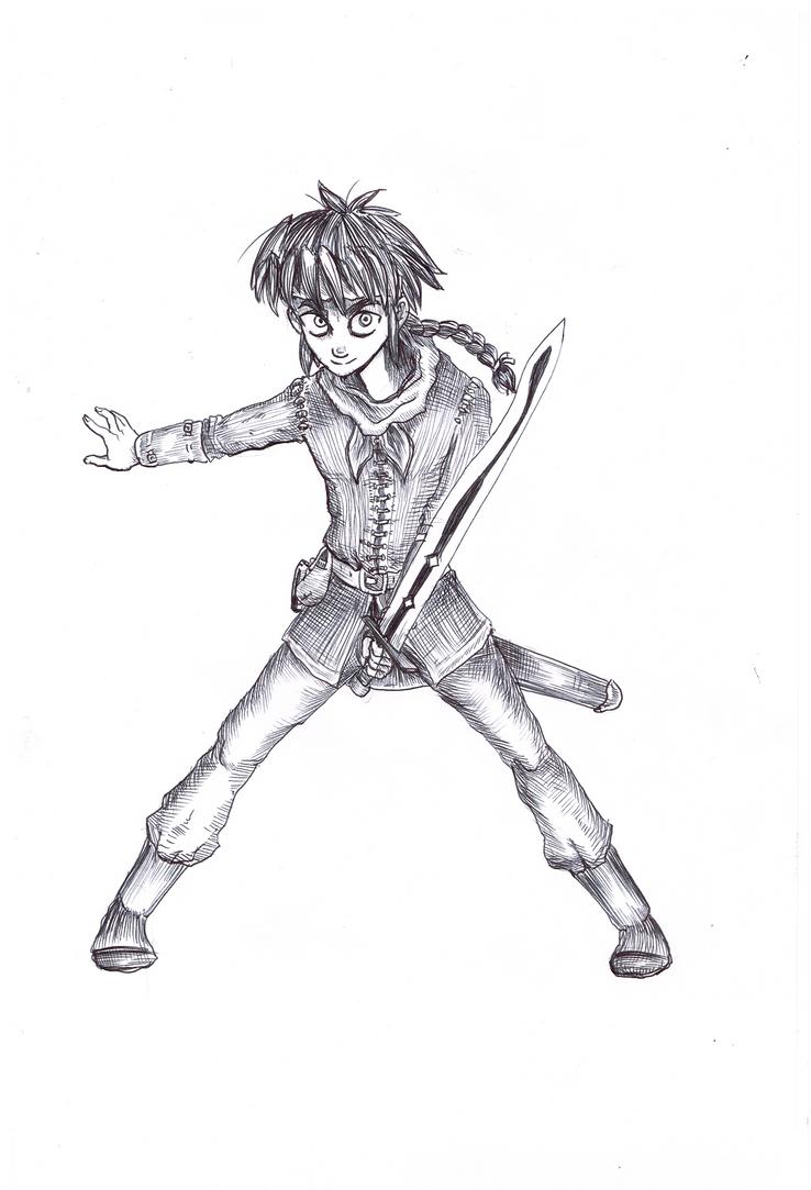 Young swordsman by Khelian-Elfinde