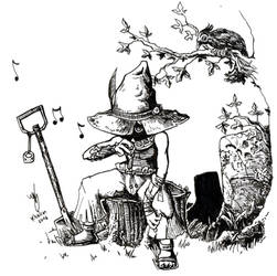 Gravedigger's whistling by Khelian-Elfinde