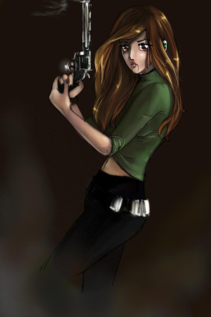 Gun Chick by morosemordant