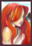 Portrait of a mermaid