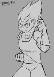 Vegeta Sketch by Barrin84