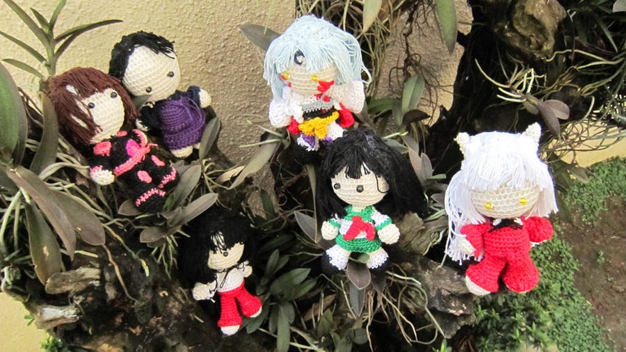 Inu Yasha Crochet Dolls by Nissie
