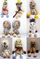 Tim Burton and Shane Acker's 9 Stitchpunk dolls by Nissie