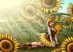 Sunflower Girl - Calantha by Alise-Art