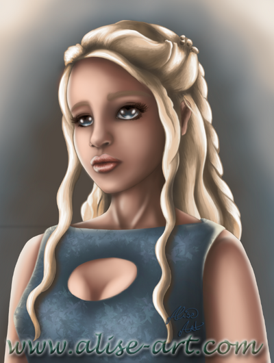 Fanart - Khaleesi - Game of Thrones by Alise-Art