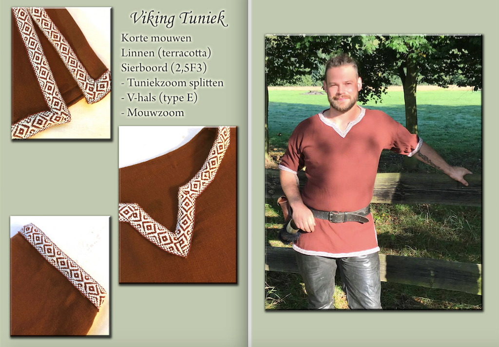 VIKING TUNIC TERRACOTTA by Alise-Art