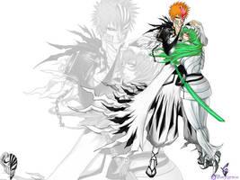 Ichigo and Nel by duomaxwell052005
