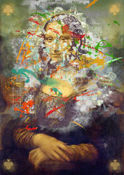 Halil Xhafa - Vandalized Mona Lisa by mclili