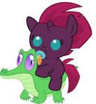 Tempest Shadow/Fizzlepop Berrytwist riding Gummy