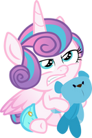 Flurry Heart with a Teddy Bear by red4567-2