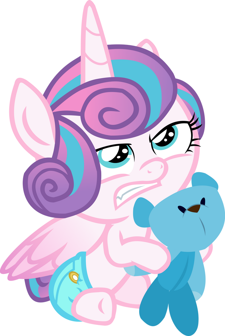 Flurry Heart with a Teddy Bear