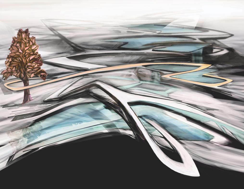 Landforms Sketch 2 v 8 by taprootstudio