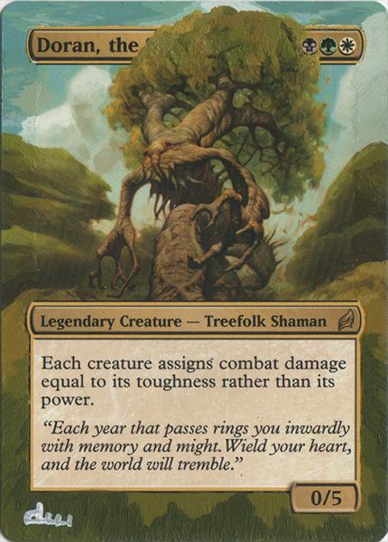 Doran the siege tower altered art magic the gathering artwork mtg art commander magic altered artwork magic card art