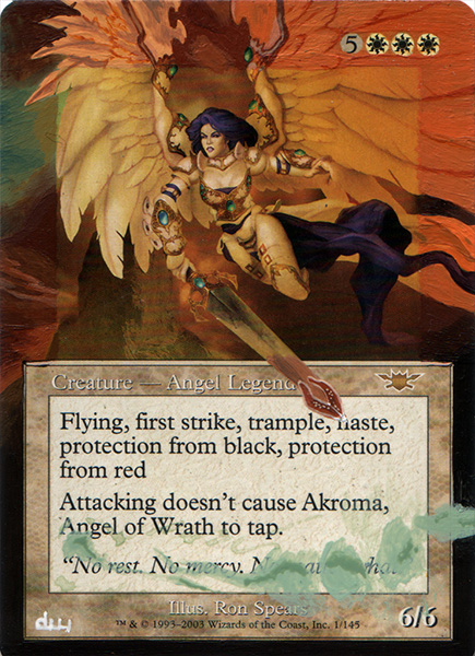 Akroma  Angel of Wrath Altered Art Magic the Gathering Artwork Card art mtg altered artwork magic card art Akroma Artwork magic the gathering cards best reanimator targets magic the gathering angel art