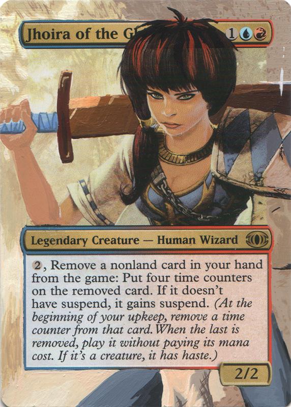 Jhoira of the Ghitu Magic the Gathering altered artwork magic card art mtg art mtg artwork Commander general card best commander decks generals altered art Magic
