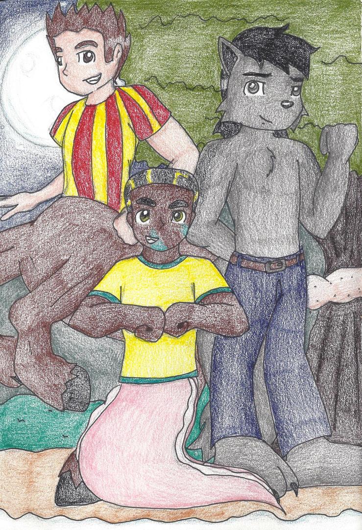 :Commission: Battling Trio by still-a-fan