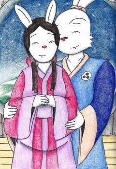 Space Usagi and Mariko