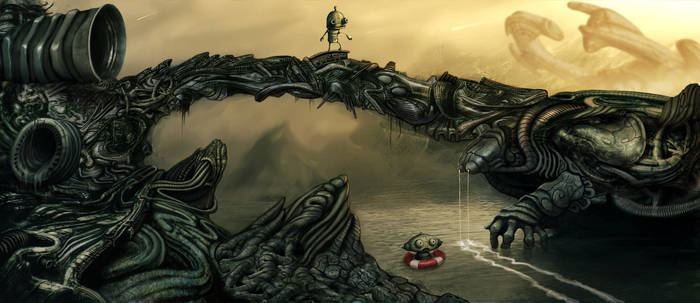 Machinarium in giger world