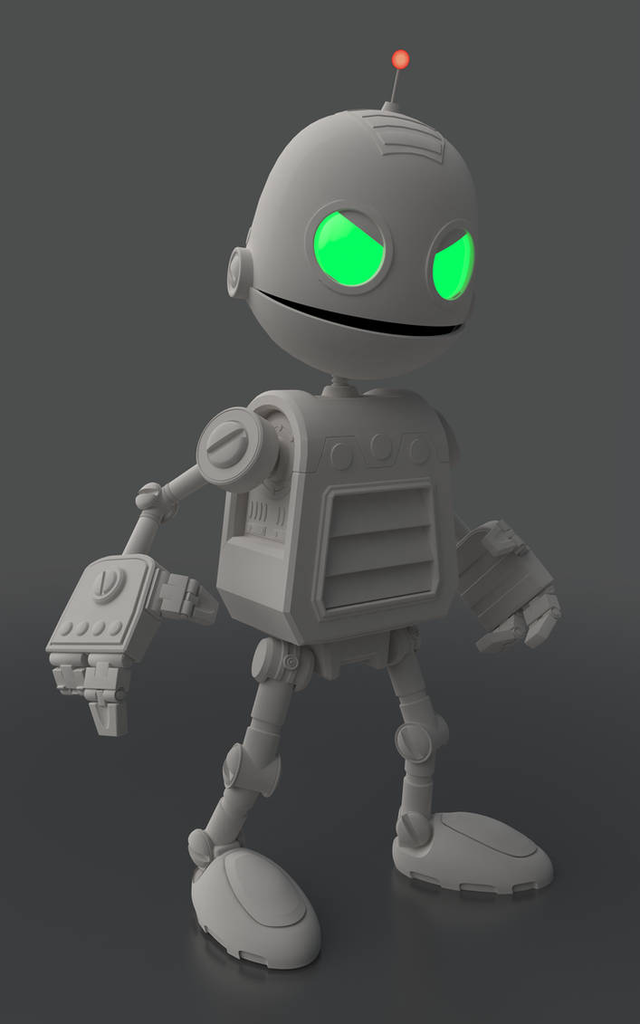 Clank | Cinema 4D R15 + VRay 1 8 | Clay Render by Y4nku on DeviantArt