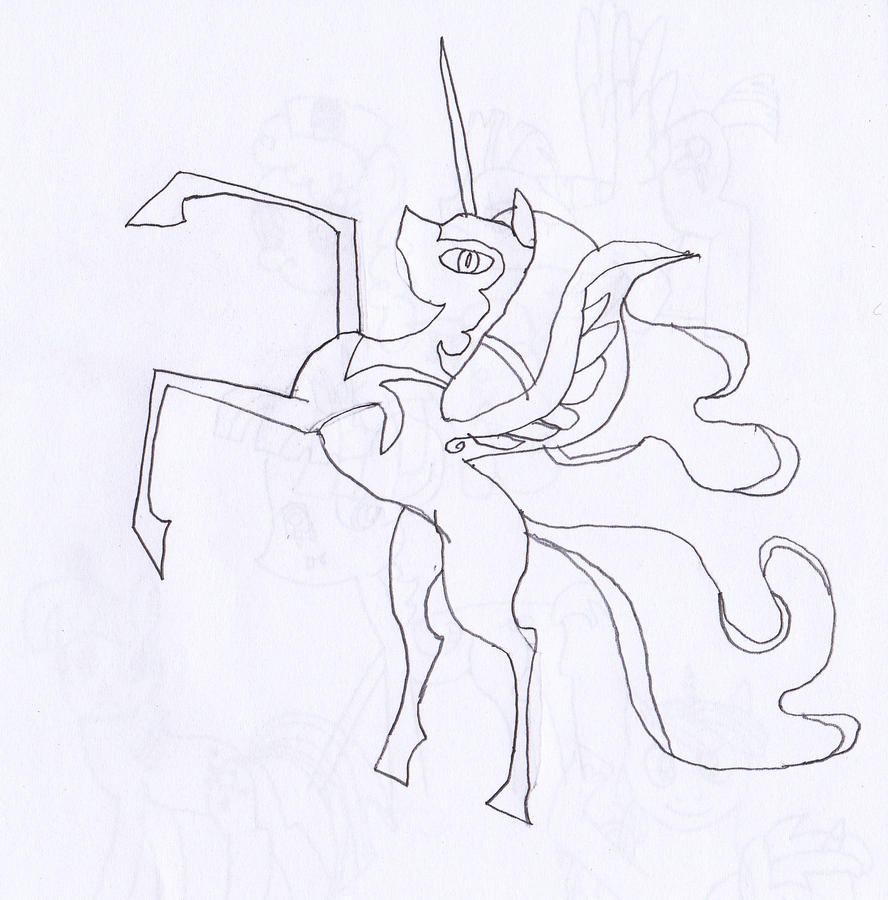 My Little Pony Coloring Pages Nightmare Moon : My little pony coloring pages nightmare moon