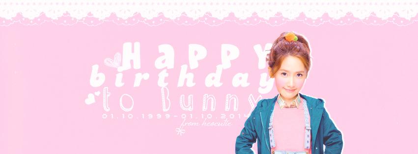 10022014. Happy birthday to Bunny by heoakasocutie