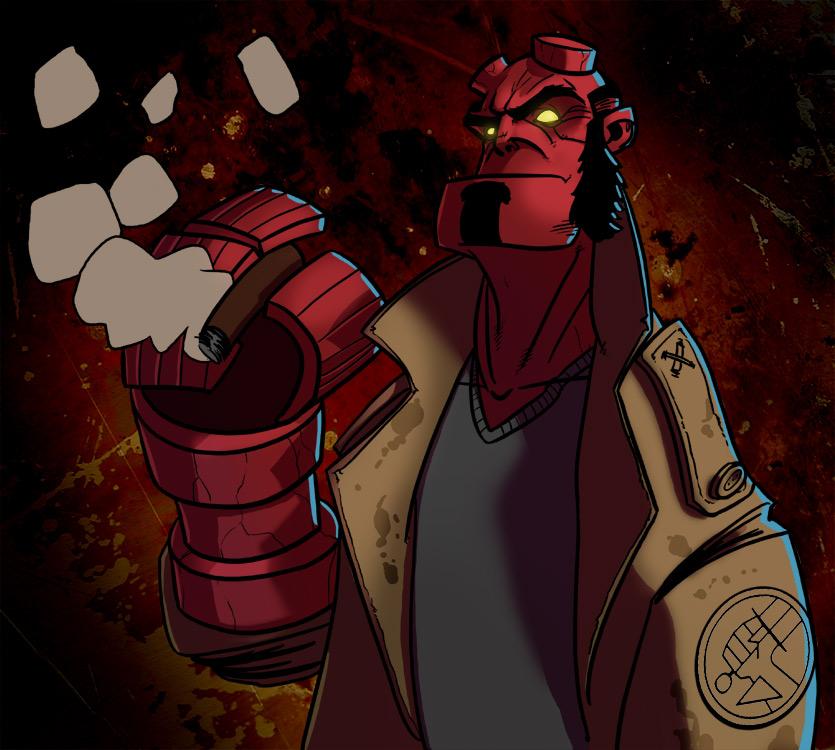 Hellboy by PandaFace