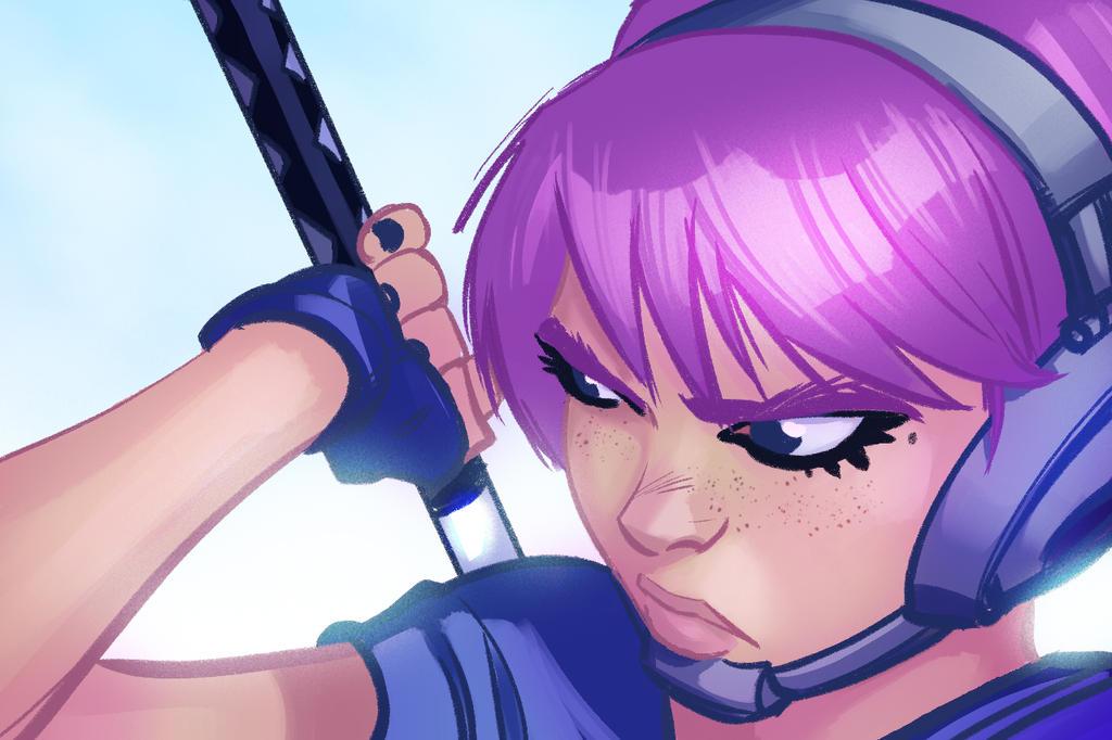 Sword Girl by PandaFace