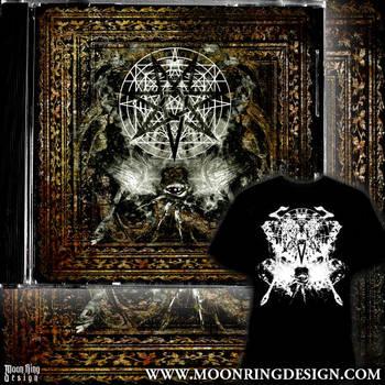 Occult metal album cover shirt by MOONRINGDESIGN