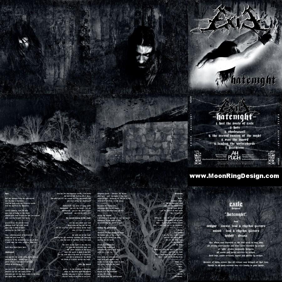 Exile Black Metal full CD art by MOONRINGDESIGN on DeviantArt