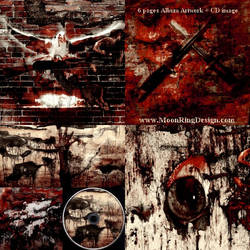 Extreme War Metal Full Album CD Artwork by MOONRINGDESIGN
