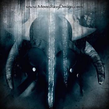 Viking Pagan Folk Black Metal Front CD Album Cover by MOONRINGDESIGN