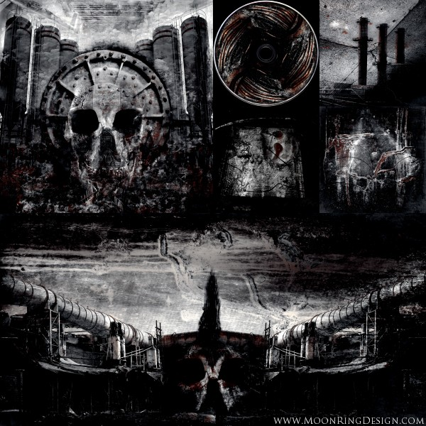 Extreme industrial metal cd album artwork for sale by moonringdesign
