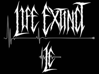 Life Extinct UK Metal custom logo emblem artwork by MOONRINGDESIGN