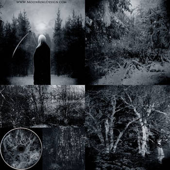 Cold Death Black Metal 6 pages CD image Album Art by MOONRINGDESIGN