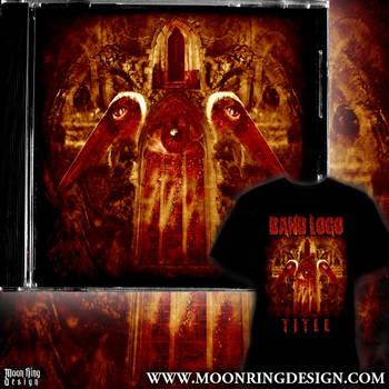 Extreme Metal Artwork Album Cover Design T-shirt by MOONRINGDESIGN