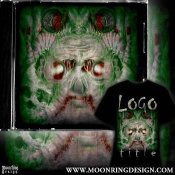 Alien Death Metal Front Cover Album Artwork design by MOONRINGDESIGN