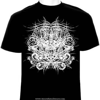 Black Death Metal T shirt design available artwork by MOONRINGDESIGN