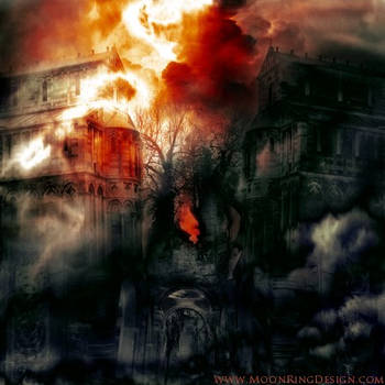 Burning Churches Extreme Metal Front Album Cover f by MOONRINGDESIGN