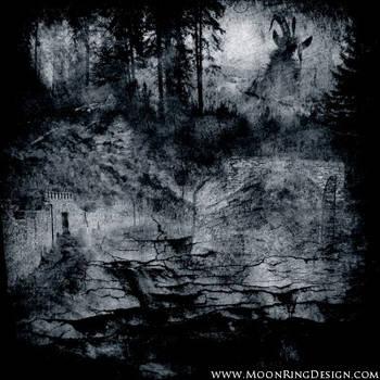 Ancient-goat-black-metal-front-cover-album-cd-artw by MOONRINGDESIGN