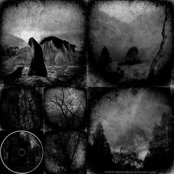 Depressive-black-metal-occult-dark-cd-cover-artwor by MOONRINGDESIGN