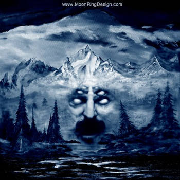 Mountain-king-face-angry-black-metal-front-cov by MOONRINGDESIGN