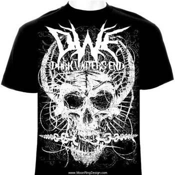 Skull-chainsbreaker-t-shirt-metal-rock-design- by MOONRINGDESIGN