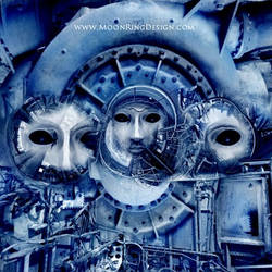 Mechanical-aliens-metal-album-front-cover-artw by MOONRINGDESIGN