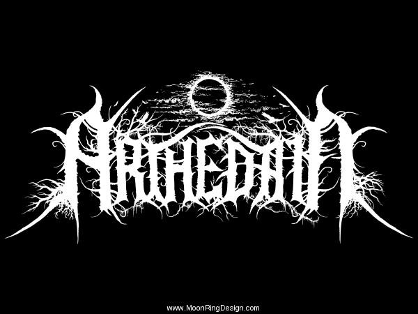metal logo design  Arthedain-black-metal-germany-custom-logo-design-a by MOONRINGDESIGN ...