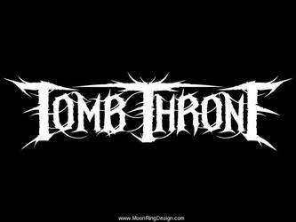 Tomb-throne-metal-usa-custom-band-logo-design-logo by MOONRINGDESIGN