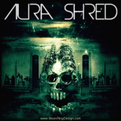 Aura-shred-electronic-music-front-cover-artwork-de by MOONRINGDESIGN