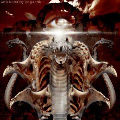 Cobra-demonic-black-death-metal-cd-cover-artwork-d by MOONRINGDESIGN