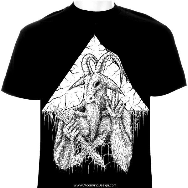 3f0d6d93fff5 Goatsaint-black-death-metal-thrash-satanic-t-shirt by MOONRINGDESIGN ...